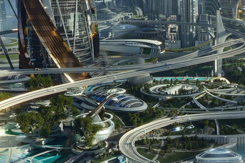 Future Utopia City - Tap to see more futuristic utopian city wallpaper!  @mobile9