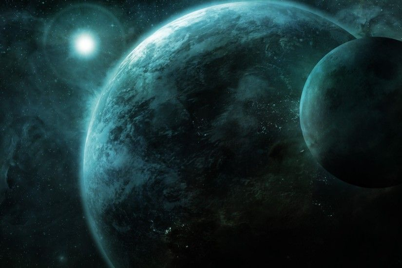 orbits, Space, Planet, Space Art, Lens Flare Wallpapers HD / Desktop and  Mobile Backgrounds
