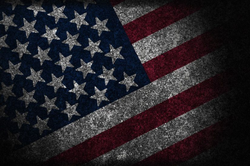 Black And Silver American Flag 14 Cool Hd Wallpaper