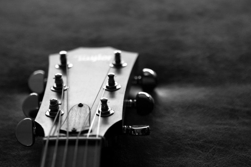 Monochrome Guitar Wallpaper 58779