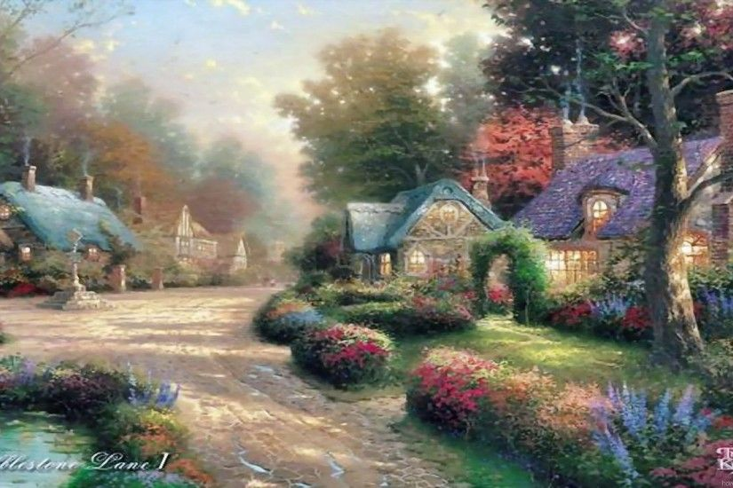 spring thomas kinkade christmas wallpaper thomas kinkade christmas .
