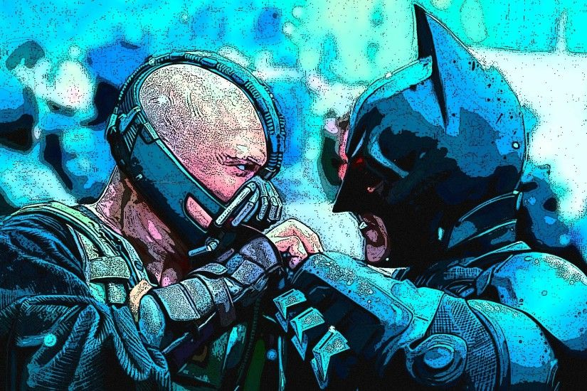 Batman vs Bane - The Dark Knight Rises wallpaper 2560x1600 jpg