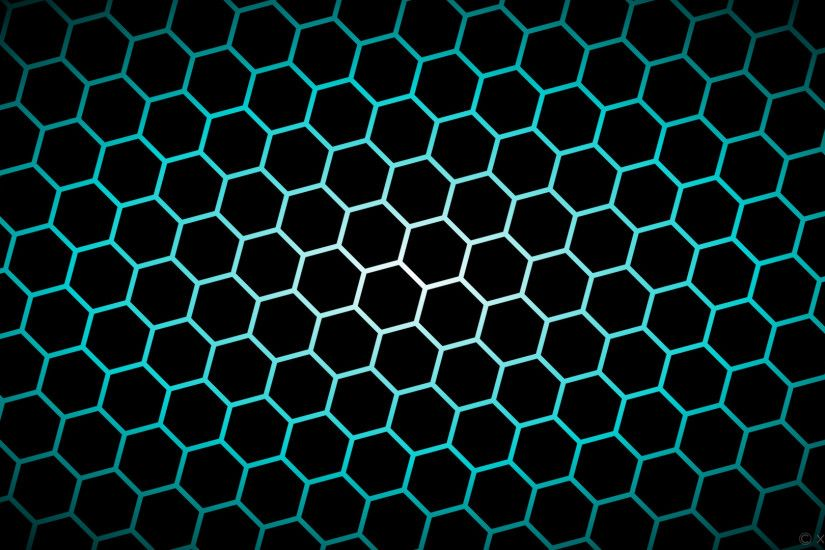 wallpaper white hexagon blue gradient glow black dark turquoise #000000  #ffffff #00ced1 diagonal