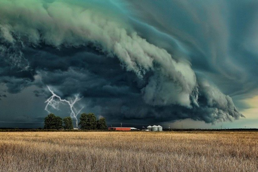 Landscape, lighting, storm cloud, July wallpapers and images .