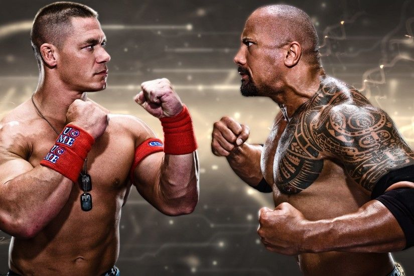 John Cena Vs The Rock Wrestlemania #11503 Wallpaper | Wallpaper hd