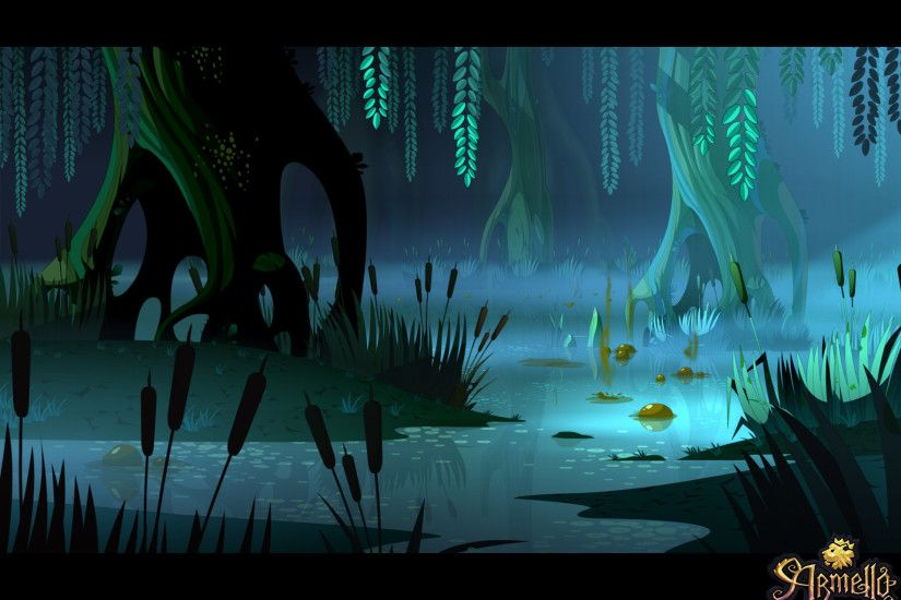 ArtStation - Armello Swamp by night, Cyril Corallo