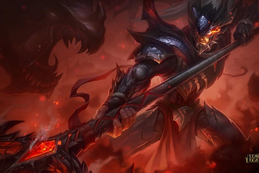 Dragonslayer Xin Zhao Splash Art League of Legends Artwork Wallpaper lol