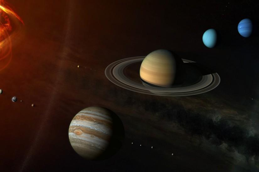 Wallpapers Solar System Wall Wallpapers Solar System Wall Paper Of The In D  2560x1440 | #474476