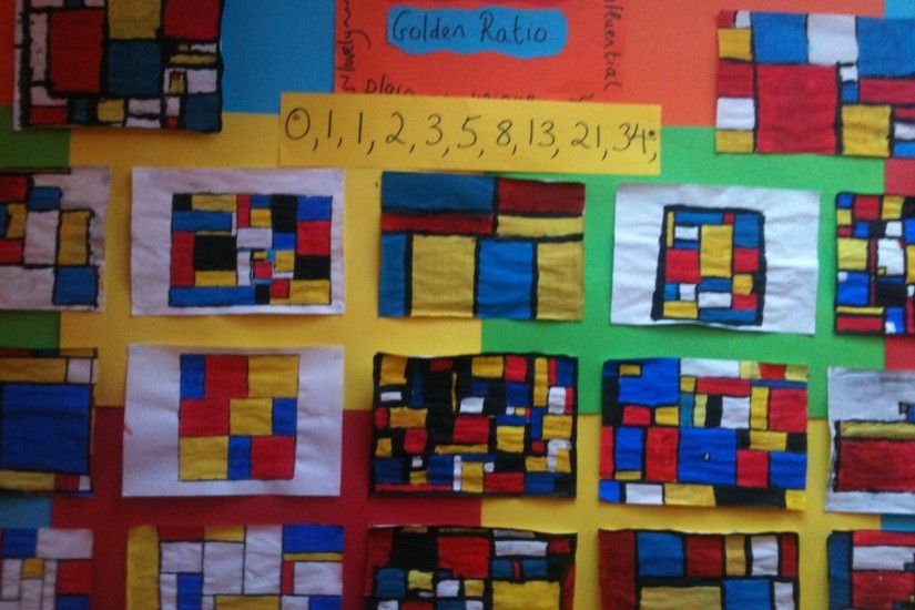 Artwork inspired by Piet Mondrian 6th class