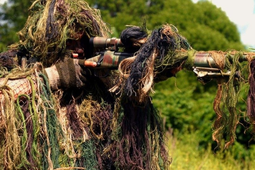 Amazing Sniper Ghillie Suit Wallpaper Free Wallpaper For Desktop and Mobile  in All Resolutions Free Download