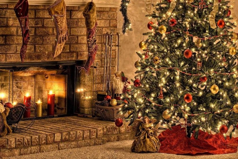 <b>Christmas Fireplace Backgrounds</b> - <b>Wallpaper<
