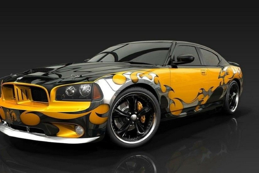 cars muscle cars creative dodge challenger dodge charger 1920x1200 free-hd- wallpapers-for