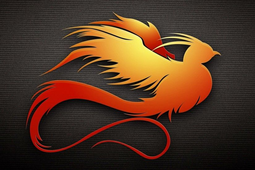 Abstract Phoenix Bird Wallpaper