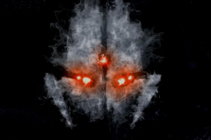 ghosts wallpaper skullCall of Duty Ghost Skull Smoke a344 HD Wallpaper .