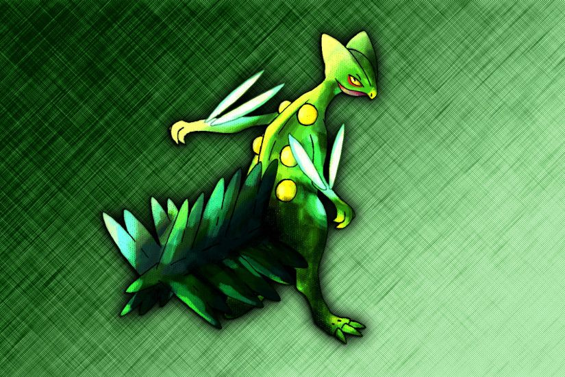 DeviantArt: More Like Mega Sceptile Wallpaper by Glench
