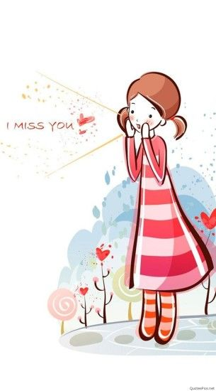 I Miss U Wallpapers With Cartoon Images I Miss You Images, Pictures For  Mobile Phones