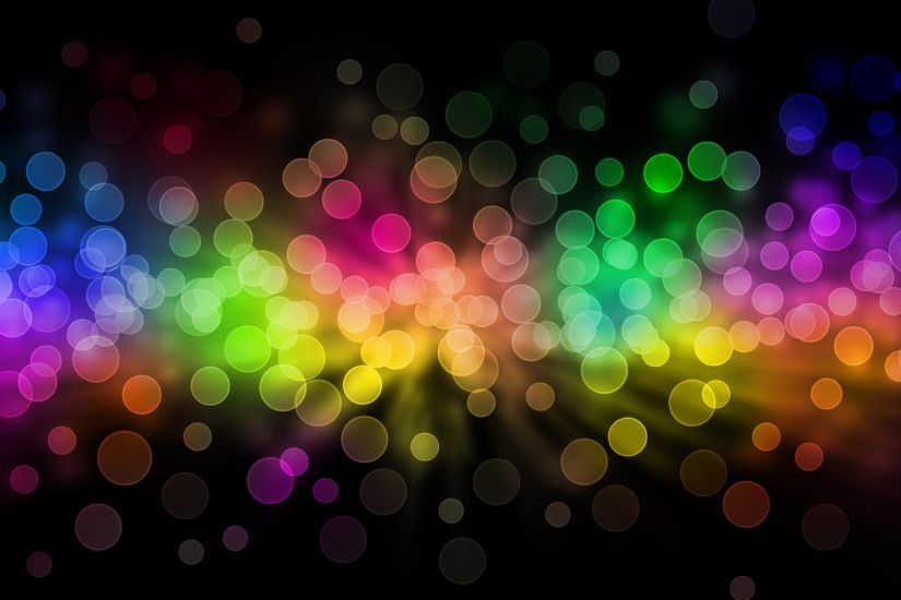 Preview wallpaper glare, rainbow, circles, background 2048x1152