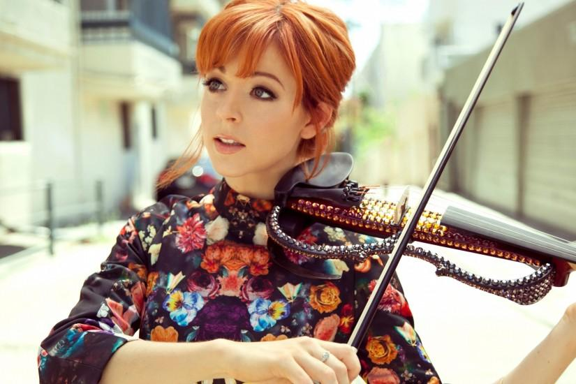 Preview wallpaper lindsey stirling, violin, girl, musician 1920x1080