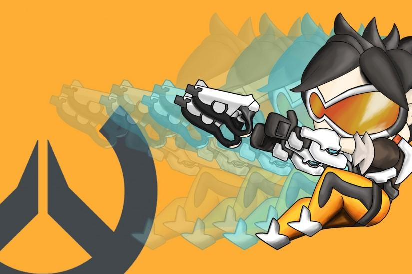 popular overwatch tracer wallpaper 1920x1080 desktop