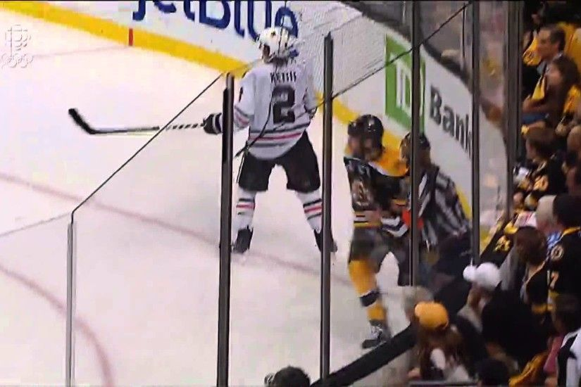 Milan Lucic (7) Goal: Game #6 SCF - Chicago Blackhawks 1 Boston Bruins 2.  June 24th 2013. (HD) - YouTube