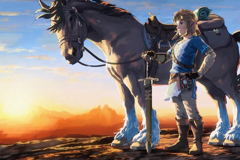 widescreen zelda breath of the wild wallpaper 3840x2160 for macbook