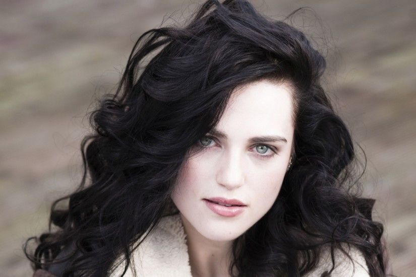 Celebrity - Katie McGrath Actress Brunette Green Eyes Face Wallpaper