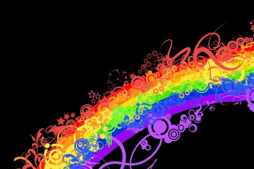 Preview wallpaper rainbow, colorful, background, lines, patterns 1920x1080