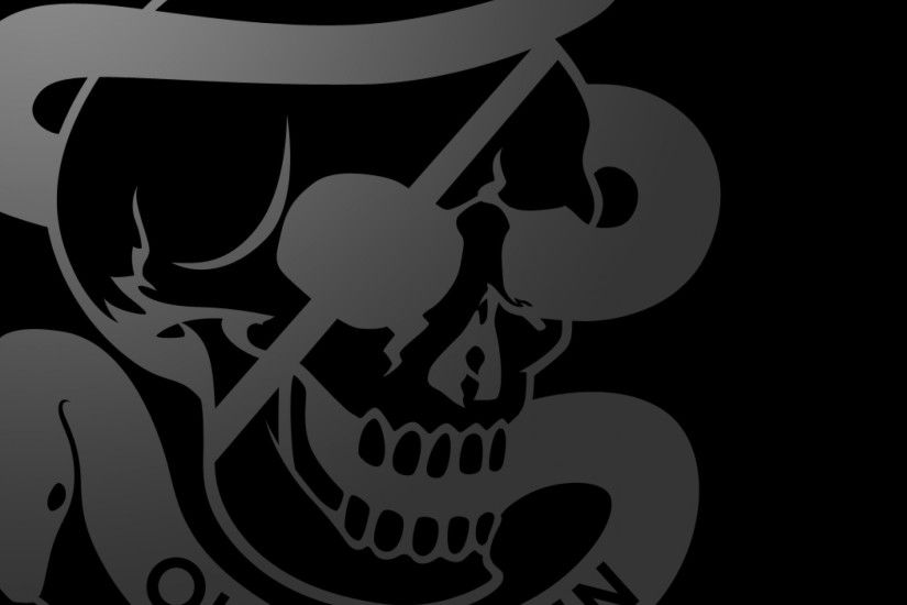 Preview wallpaper outer haven, skull, symbol, logo, black 2048x2048
