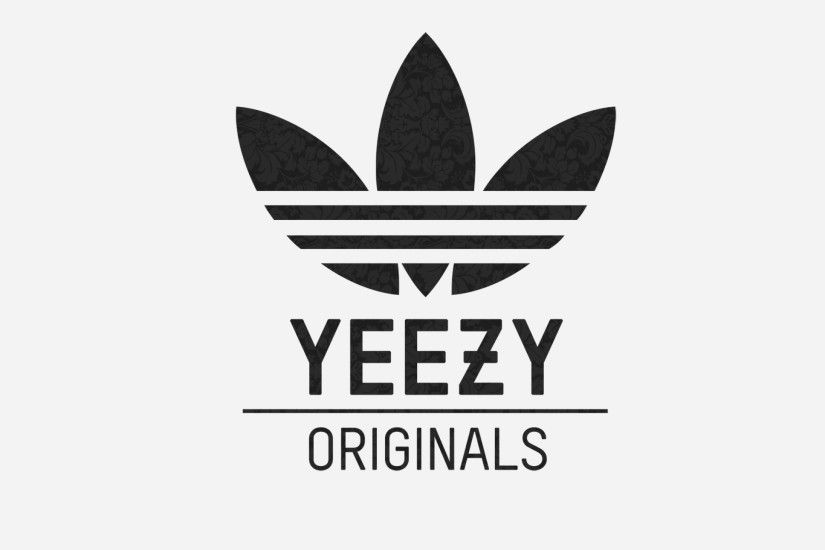 Preview wallpaper adidas, yeezy, logo 2560x1440