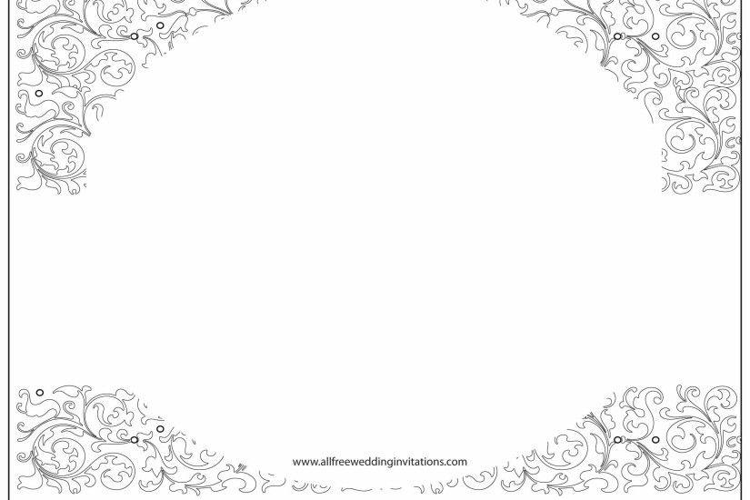 White Wedding All Free Wedding Invitations. White Wedding Invitation  Background With Black Ornaments Stock Vector