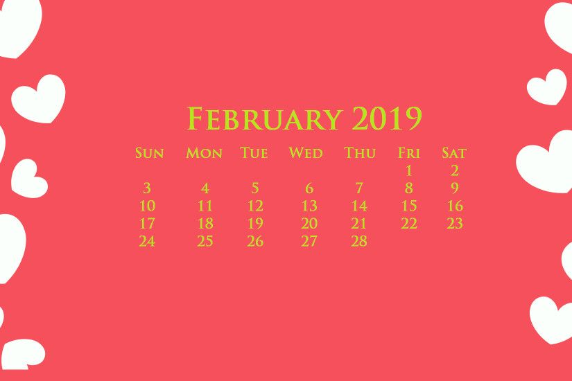 Desktop February 2019 Calendar Wallpaper #february #2019february  #februarycalendar2019 #desktopcaledar