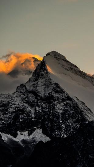 Himalaya Mountains Sunset Fire IPhone 6 Plus Wallpaper