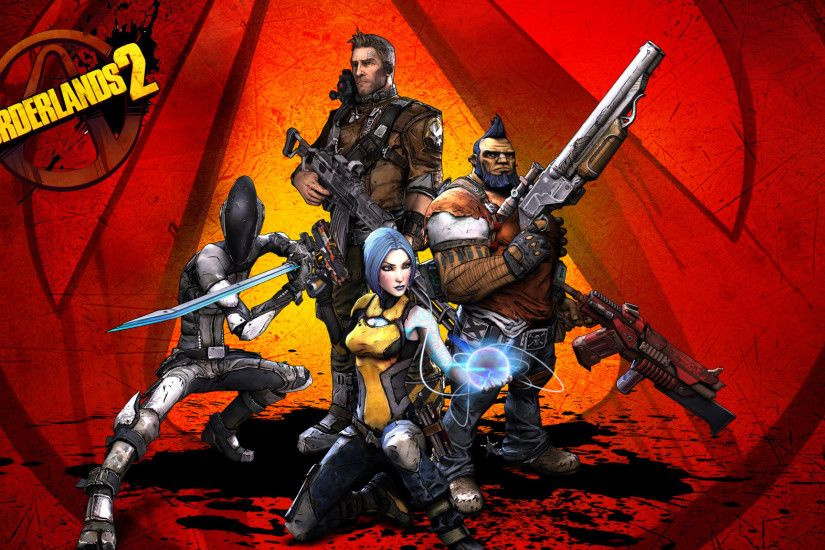 2048x1152 Wallpaper borderlands 2, salvador, gunzerker, maya, zero, axton