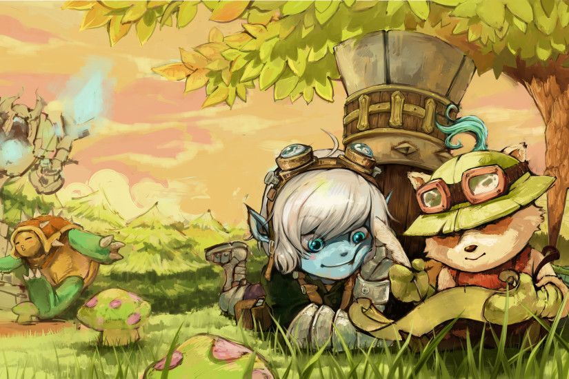 ... League of Legends Teemo and Trist Wallpaper by kirill2485