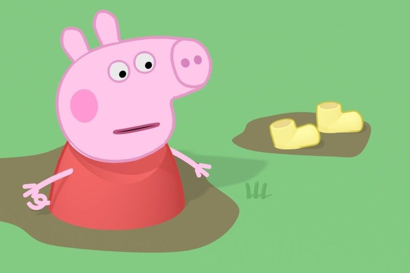 Peppa Pig : yellow boots and strange Muddy Puddles