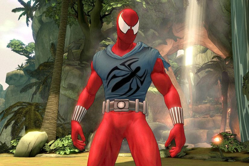The Scarlet Spider costume for Amazing Spider-Man