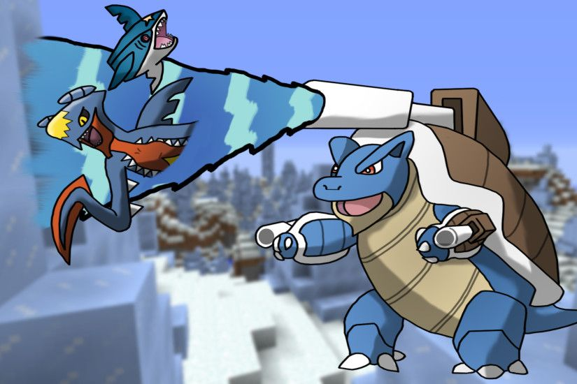 Pokemon SharkNado w/ Mega Blastoise Garchomp by KabyAlkaris on .