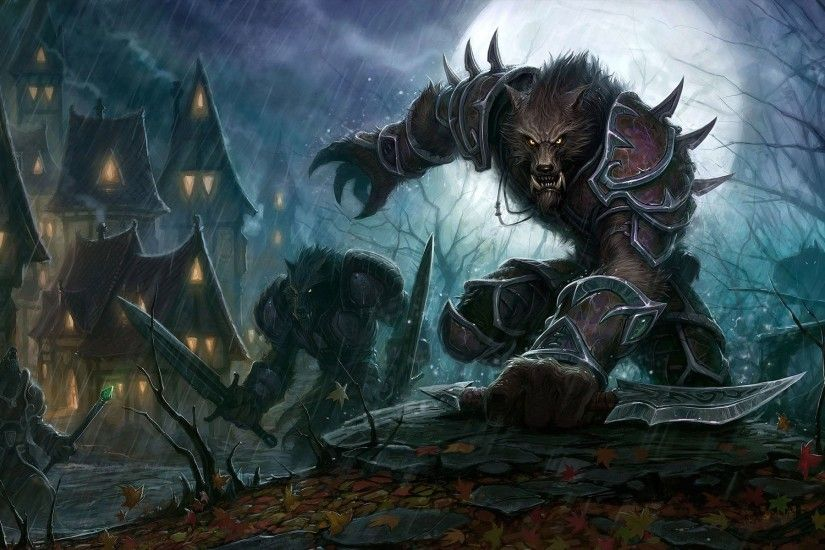 World of Warcraft Worgen desktop wallpaper