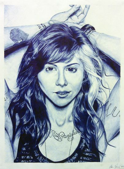 christina perri crosshatched - pen and ink - may 2011
