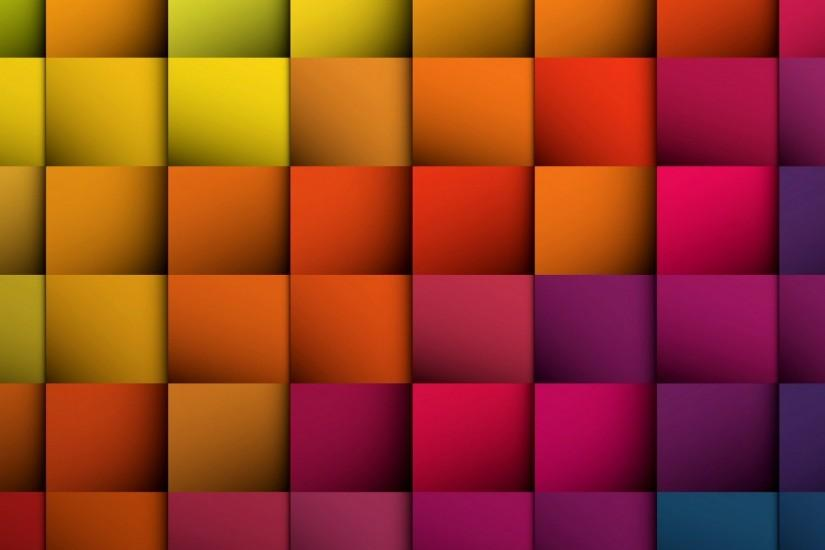 Color Square Background Wallpaper