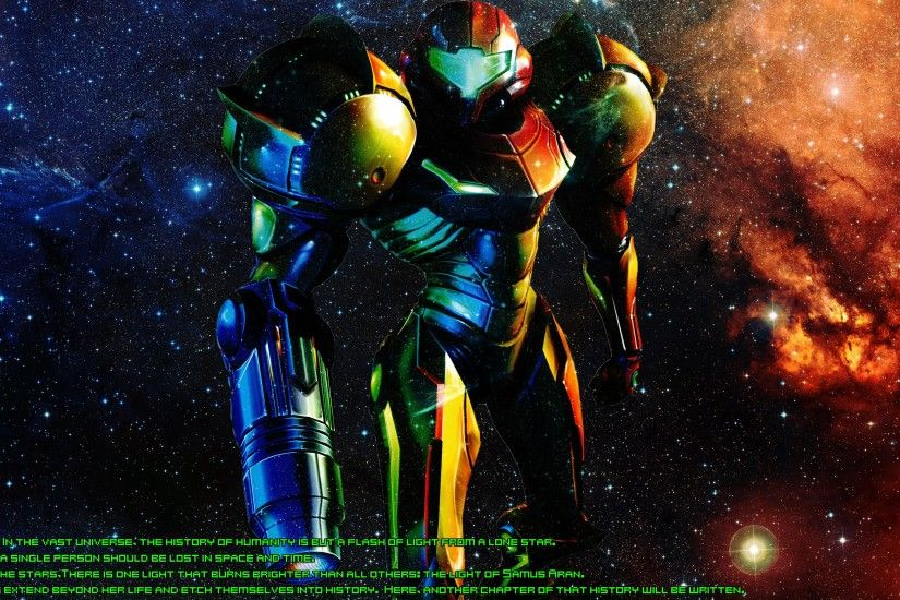 An Old Metroid Prime wallpaper I made.