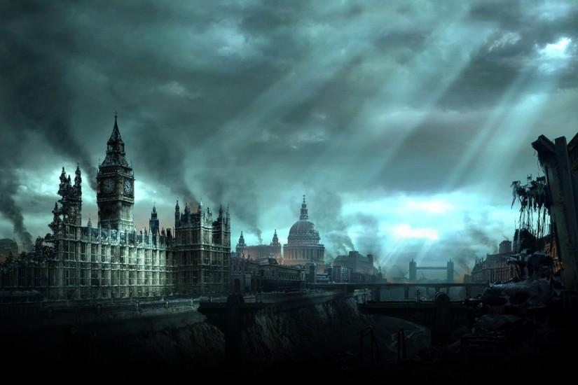 london big ben post apocalyptic wallpaper High Quality Wallpapers,High  Definition Wallpapers - for mobile