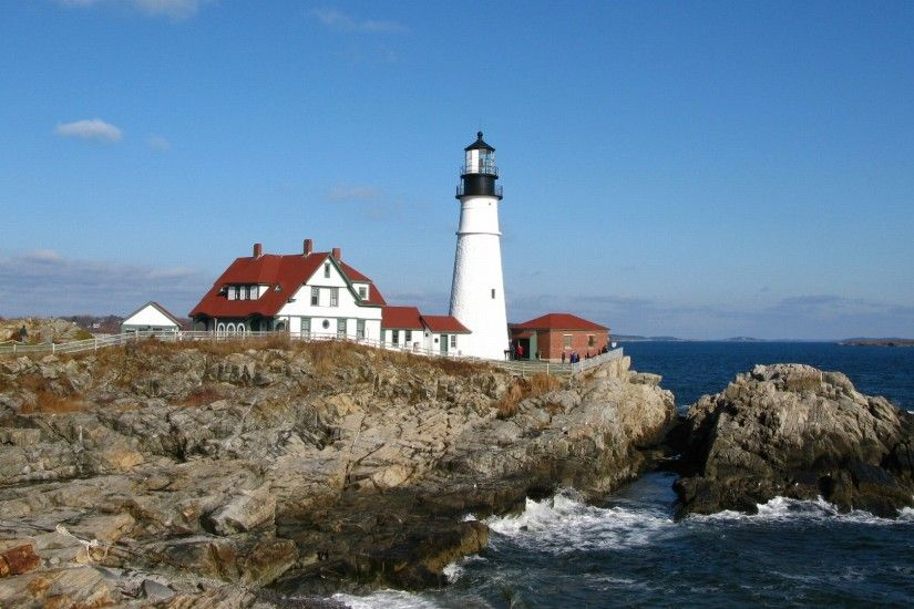 Man Made - Lighthouse Maine Wallpaper