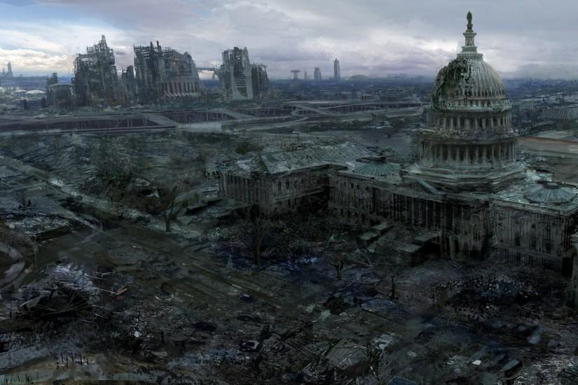 ... Video games ruins post-apocalyptic artwork fallout 3 wallpaper ...