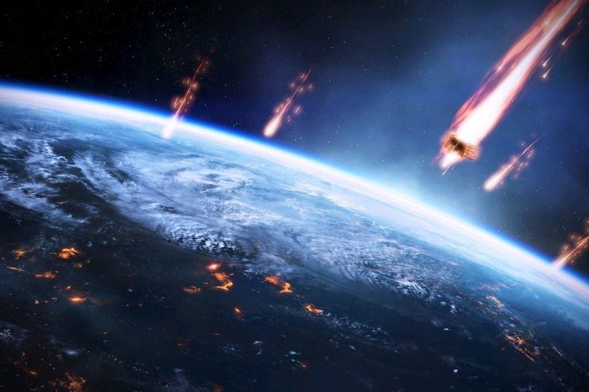 meteors, Space, Earth, Mass Effect Wallpapers HD / Desktop and Mobile  Backgrounds