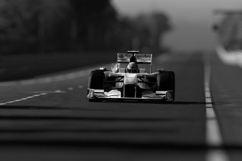 Monochrome Formula 1 Car Wallpaper 49945