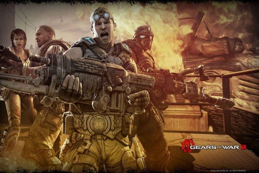 Wide Gears of War 3 Theme wallpapers and stock photos