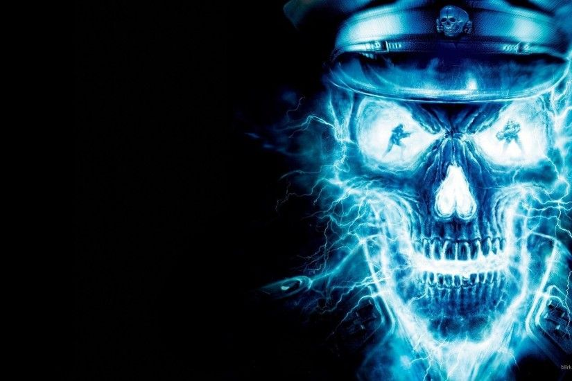 Neon wallpaper - Neon blue Skull Wallpapers - HD Wallpapers 94698