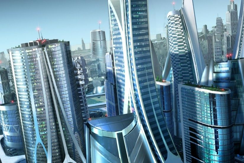 Future City - Tap to see more Futuristic Utopian City Wallpapers @mobile9