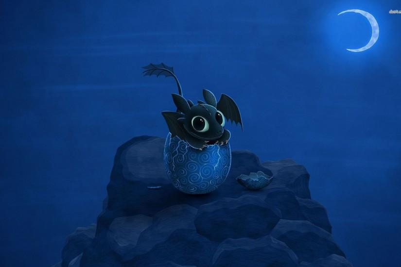 Hatching Toothless Wallpaper
